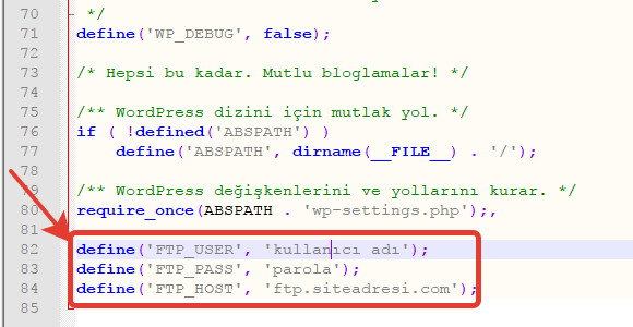Wordpress FTP Soruyor